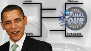 President Obama weighs in on March Madness