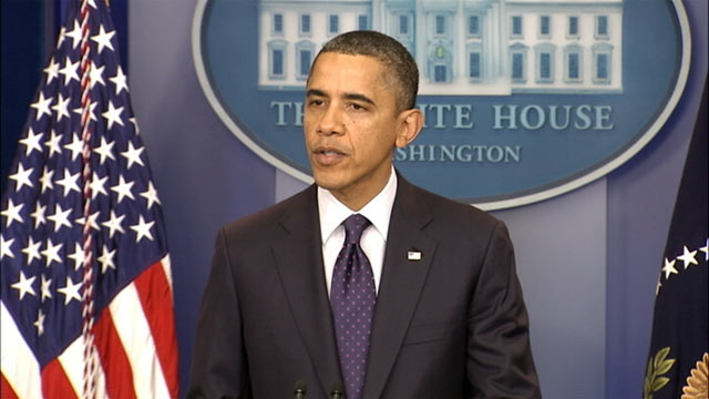 PHOTO: President Barack Obama holds a press conference, Dec. 23, 2011.