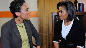 Photo: In Exclusive First Interview with ABCs Robin Roberts, Michelle Obama Talks Life in the White House and Her Agenda as First Lady