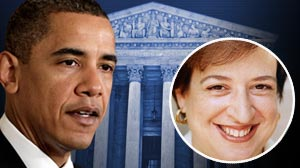Photo: President Barack Obamas possible pick for Justice David Souters Supreme Court seat, Elena Kagan