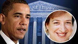 Photo: President Barack Obamas possible pick for Justice David Souters Supreme Court seat, Elena Kagan