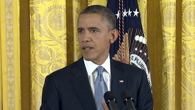 VIDEO: The president holds his first news conference since being re-elected to office.