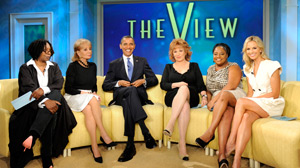 """PHOTO President Barack Obama, the 44th President of the United States, is the featured guest on """"The View."""""""