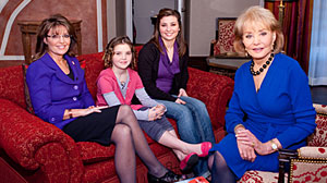 Photo: ABCs Barbara Walters interviews Sarah Palin