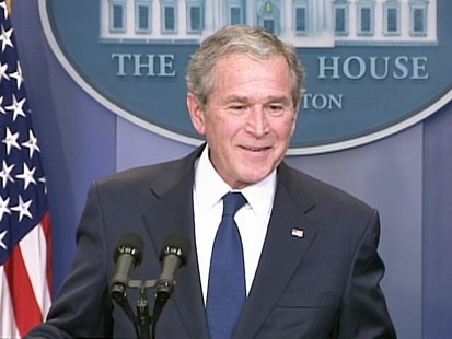 VIDEO: President Bush talks about mood at White House.