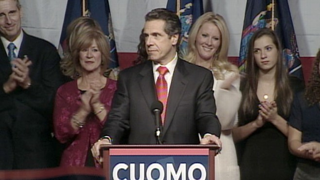 VIDEO: The governor-elect declares victory in the NY Gubernatorial race.