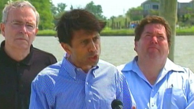 VIDEO: The Governor expresses concern over type of oil hitting Louisiana marshlands