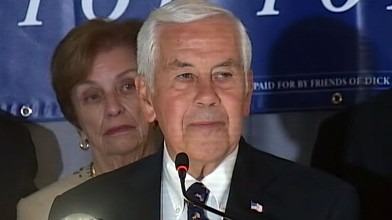 VIDEO: Six-term senator loses to Tea Party candidate Richard Mourdock.