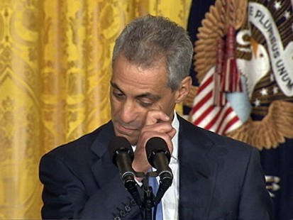 VIDEO: President Obamas exiting chief of staff chokes up while discussing his family.