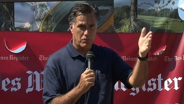 VIDEO: Mitt Romney Heckled in Iowa