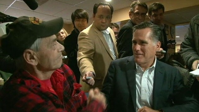 VIDEO: Vietnam Vet asks the GOP contender if he supports gay marriage or not.