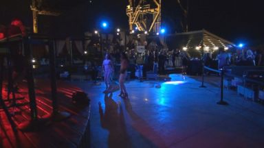 PHOTO: The dance floor stands mostly empty at a party ahead of the Republican National Convention in Cleveland.