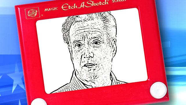 PHOTO: Eric Fehrnstromon said Mitt Romneys campaign is like an Etch-A-Sketch.