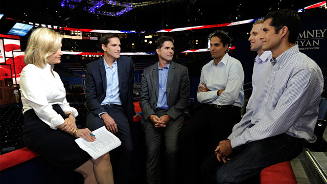 PHOTO: Diane Sawyer and Mitt Romney's sons