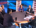 PHOTO: ABC News George Will, House Armed Services Committee Member Rep Joaquin Castro (D) Texas, 2012 Republican Presidential Candidate and (R) Former House Speaker Newt Gingrich, Washington Post Columnist Ruth Marcus, and Romney 2012 Campaign Senior Adv