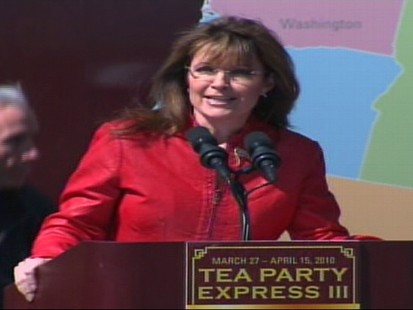 Video of Sarah Palin at rally saying to Dems, youre fired.