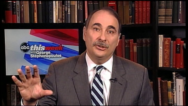 PHOTO: David Axelrod, President Obamas top campaign adviser, is interviewed on This Week.