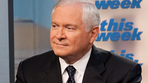 "Photo: Defense Secy Robert Gates on ""This Week"""