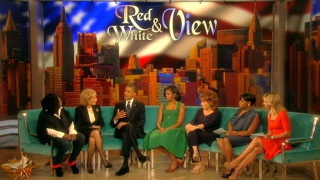 """VIDEO: The president and first lady appear on """"The View."""""""
