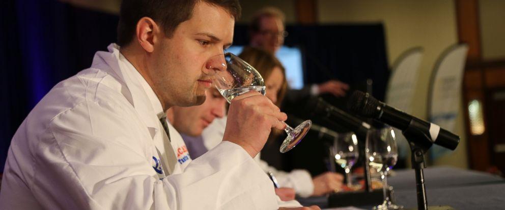 """PHOTO: Jasper Schneider tastes water at the 16th annual """"Great American Water Taste Test"""" in Washington."""