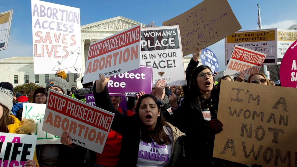 Abortion-rights protesters descend on Supreme Court in wake of state bans thumbnail