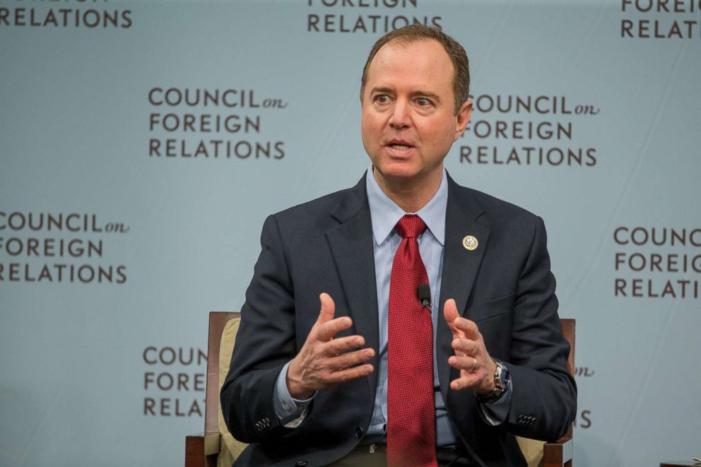 PHOTO: House Intelligence Ranking Member Adam Schiff speaks at the Council On Foreign Relations, February 16, 2018 in Washington, DC.