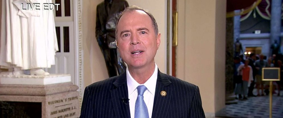 "PHOTO: Adam Schiff appears on ""The View,"" July 25, 2019."