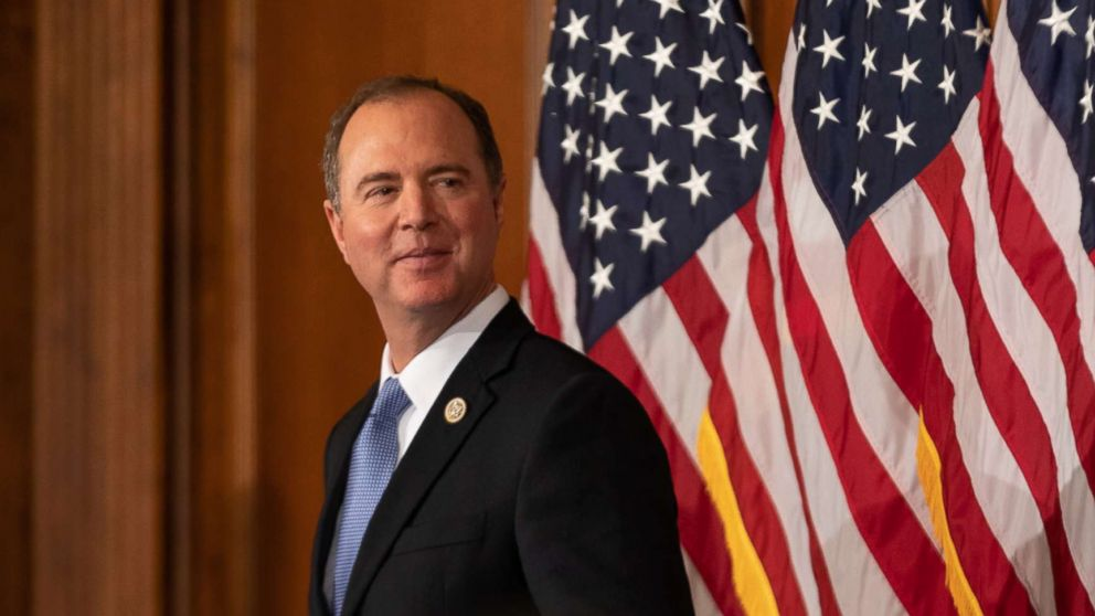 Rep. Adam Schiff participates in a ceremonial swearing-in ceremony on Capitol Hill in Washington, Jan. 3, 2019.