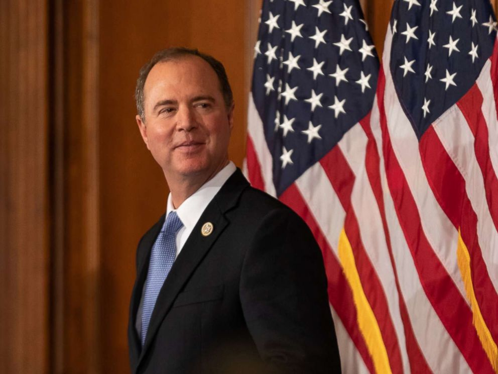 PHOTO: Rep. Adam Schiff participates in a ceremonial swearing-in ceremony on Capitol Hill in Washington, Jan. 3, 2019.