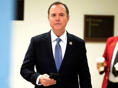 PHOTO:Chairman of the House Intelligence Committee Adam Schiff arrives on Capitol Hill in Washington, Feb 28, 2019.
