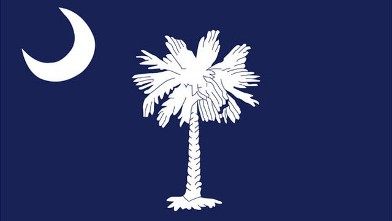 PHOTO: The South Carolina flag is shown.