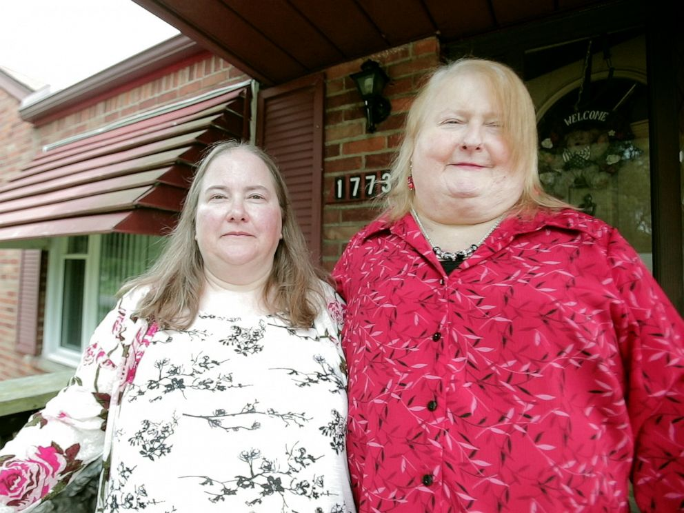 PHOTO: Aimee Stephens, right, with wife Donna Stephens at their home in Michigan.