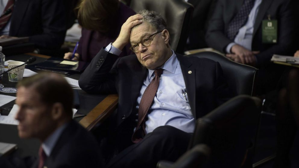 Sen. Al Franken takes a break during the Neil Gorsuch Senate Judiciary Committee confirmation hearing as President Donald Trump's nominee for the Supreme Court on Capitol Hill in Washington, D.C., March 20, 2017.