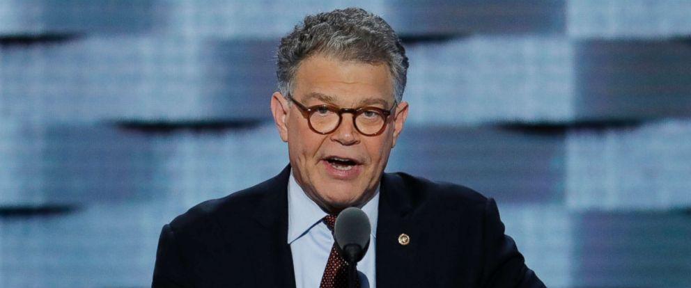 PHOTO: Sen. Al Franken speaks during the Democratic National Convention in Philadelphia, July 25, 2016.