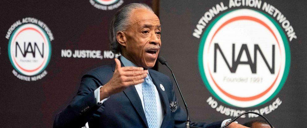 PHOTO: Al Sharpton speaks during a gathering of the National Action Network, April 3, 2019, in New York.