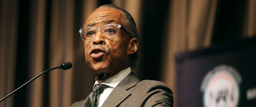 PHOTO: Al Sharpton speaks at the National Action Networks annual convention, April 4, 2019, in New York City.