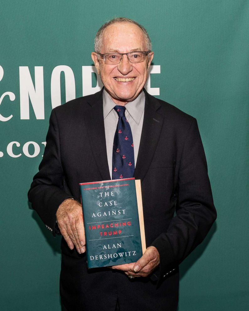 PHOTO: Alan Dershowitz promoting his newest book, The Case Against Impeaching Trump, at the Barnes & Noble in Union Square in New York City, July 11, 2018.