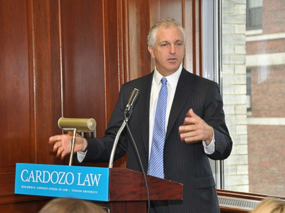 PHOTO: Alan S. Futerfas speaks at Cardozo School of Law, February 2013.