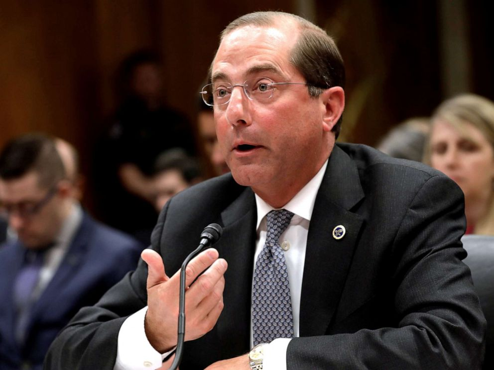 PHOTO: HHS Secretary Alex Azar testifies before a Senate Appropriations Labor, Health and Human Services, Education and Related Agencies Subcommittee hearing on Capitol Hill in Washington, April 4, 2019.