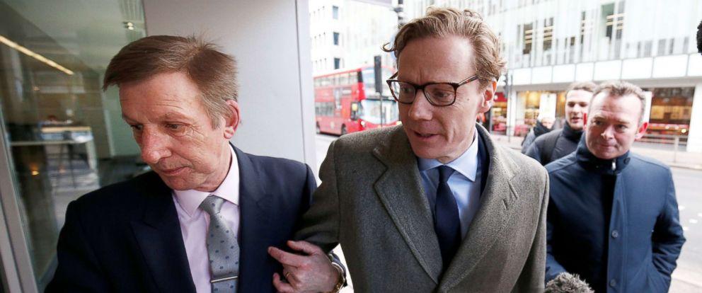 PHOTO: Alexander Nix, CEO of Cambridge Analytica arrives at the offices of Cambridge Analytica in central London, March 20, 2018.