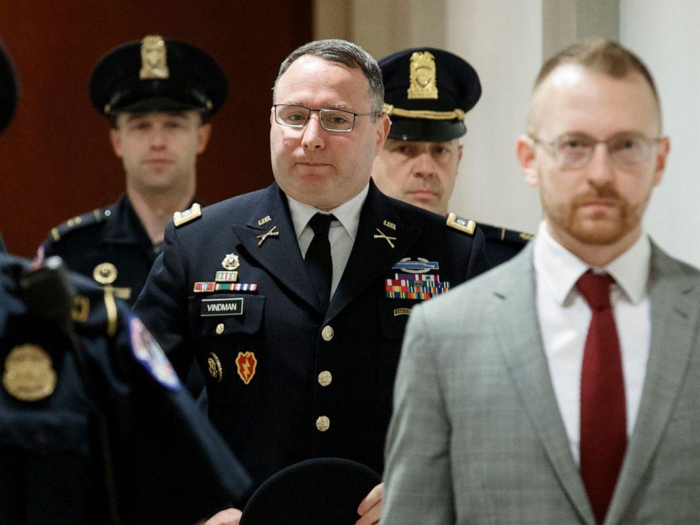 PHOTO: Army Lieutenant Colonel Alexander Vindman arrives at the Capitol in Washington, D.C., Oct. 29, 2019.
