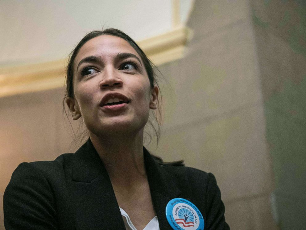 PHOTO: Rep. Alexandria Ocasio Cortez at the Capitol in Washington, DC, Jan. 16, 2019.