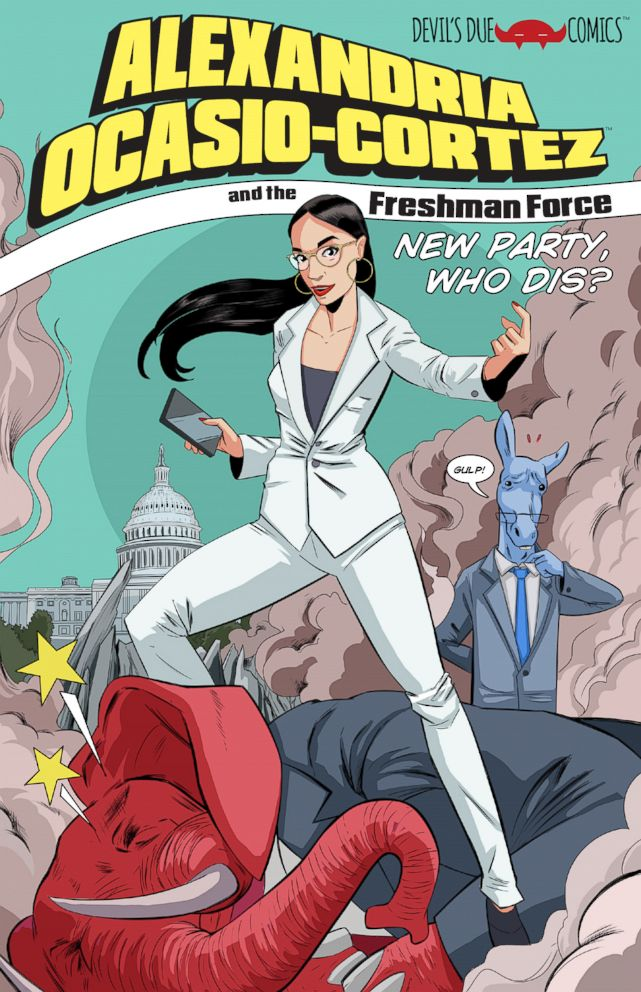 PHOTO: Rep. Alexandria Ocasio-Cortez is the focus of an upcoming comic book from Devil's Due Comics. Image by Tim Seeley and Josh Blaylock, with K. Lynn Smith.