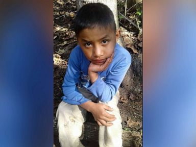 PHOTO: This Dec, 12, 2018 photo provided by Catarina Gomez, shows her half-brother Felipe Gomez Alonzo, 8, near her home in Yalambojoch, Guatemala.