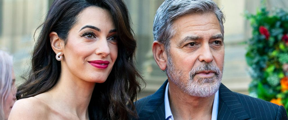 PHOTO: Amal and George Clooney attend the Peoples Postcode Lottery Charity Gala at McEwan Hall, March 15, 2019, in Edinburgh, Scotland.