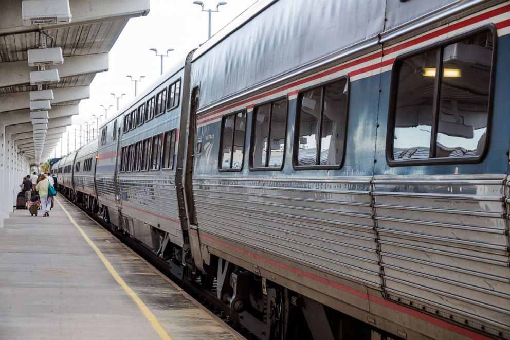 PHOTO: Amtrak train station, passengers disembarking in this undated photo.