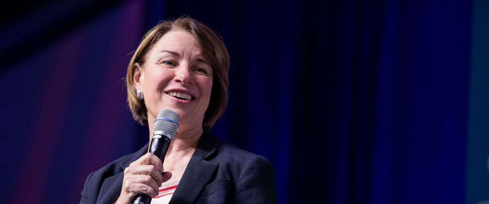 PHOTO: MN Senator and Democratic presidential candidate Amy Klobuchar participates in the Congressional Hispanic Caucus Institutes 2019 Leadership Conference Presidential Forum in Washington, D.C., Sept. 10, 2019.