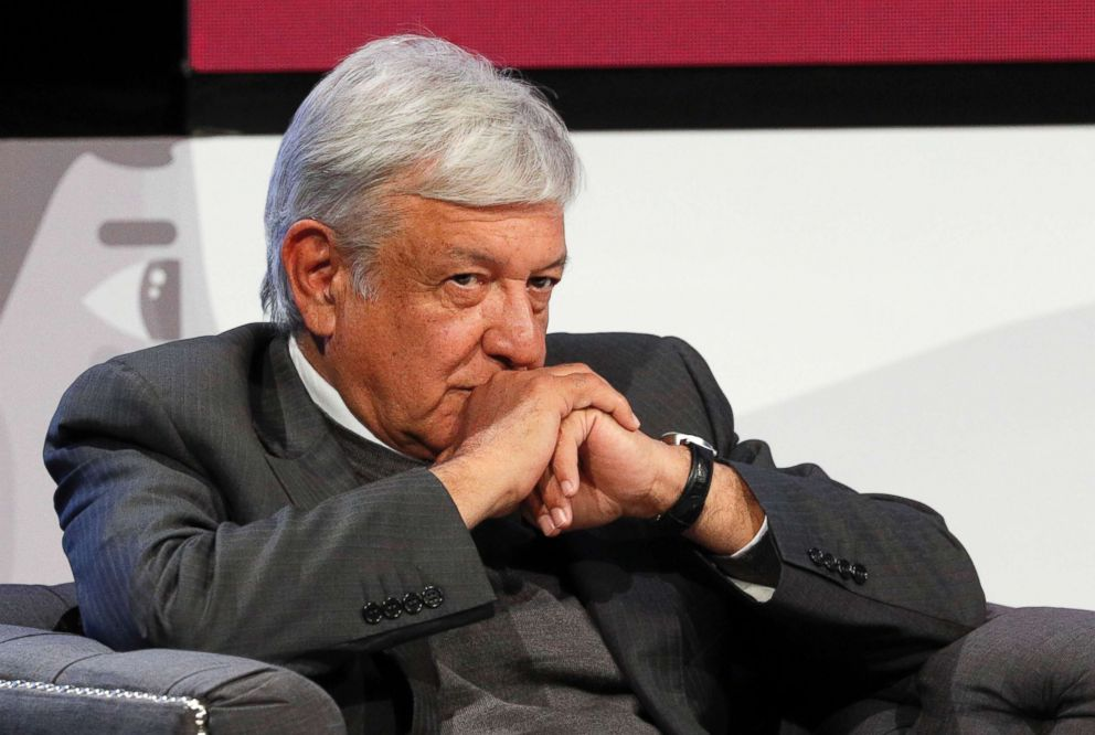 PHOTO: Mexican President-elect Andres Manuel Lopez Obrador listens during a meeting in Mexico City.