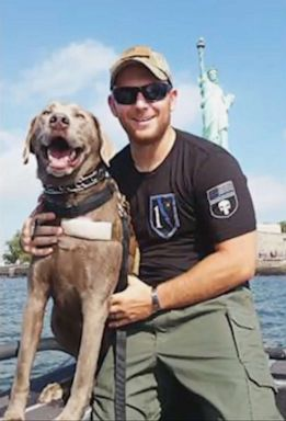 PHOTO: Andrew Einstein is pictured in this undated photo with his service dog.