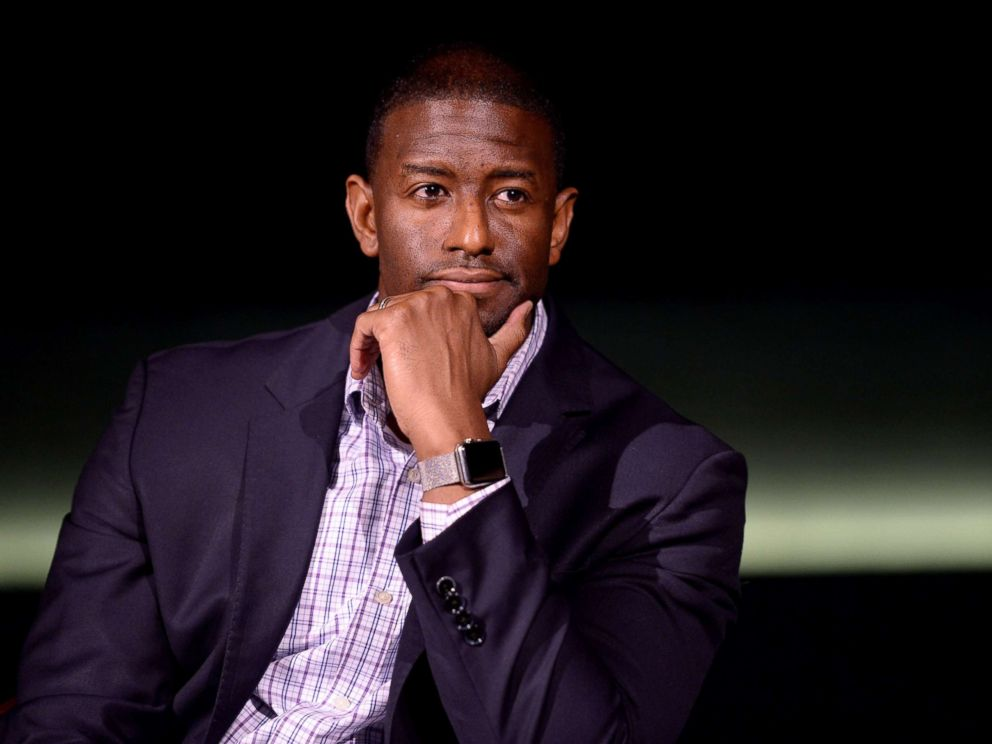 PHOTO: Tallahassee Mayor Andrew Gillum attends TOMS, Rock The Vote And Bad Robot Host VOTE2016 Conversation Regarding 2016 Election at Bad Robot on March 10, 2016 in Santa Monica.